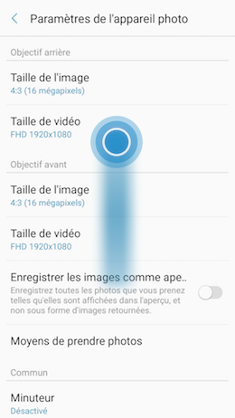 Galaxy A5 (2017): Lancer rapidement l'application appareil photo (SM-A520W)