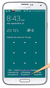 Cómo desbloquear el celular cuando se olvida el patrón