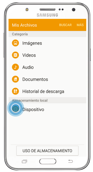 Galaxy J7 - ¿Cómo enviar documentos por Bluetooth?