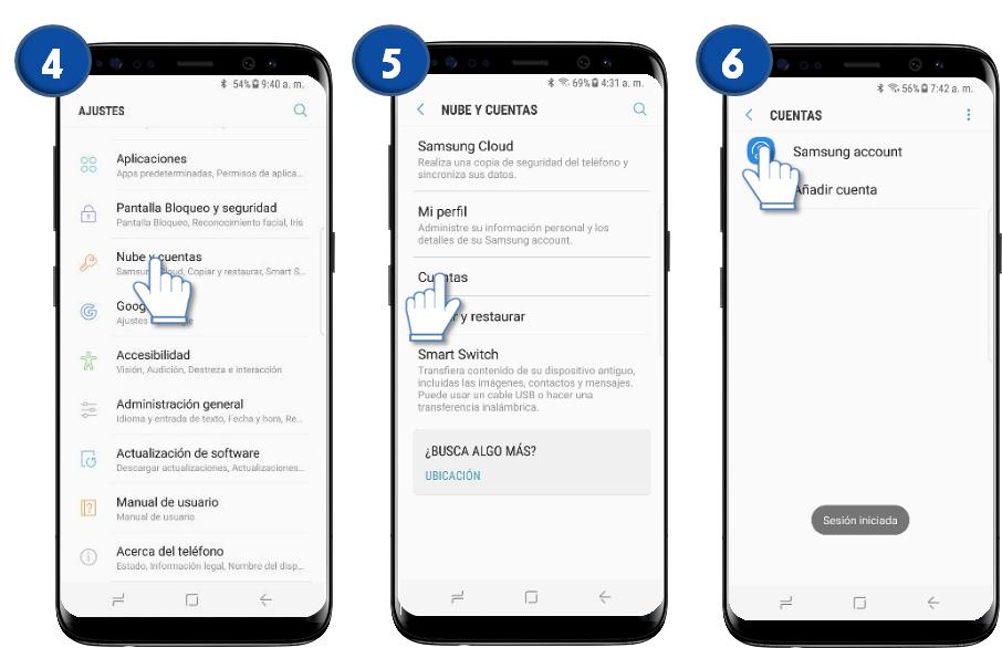 Samsung Galaxy S8 Y S8 Cómo Eliminar Una Cuenta Samsung Samsung Argentina