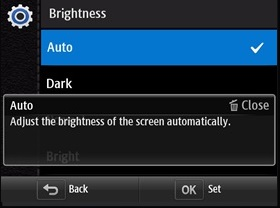 Choose brightness