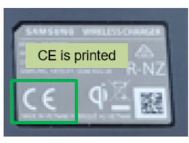 CE is printed