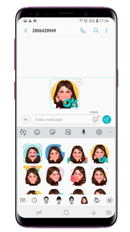 Válassz egy Emojit a My Emoji matricák közül