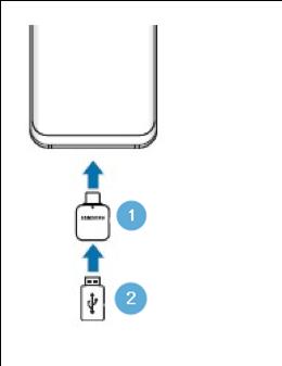 Csatlakoztassa az USB OTG átalakítót (USB Type-C) a telefonhoz, és csatlakoztassa az USB memóriát / külső HDD-t