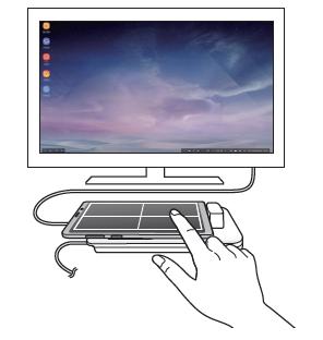 Hogyan vezérelhetek Samsung DeX képernyőt a készülékkel