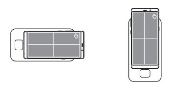 Ha a készülék képernyője megfelelő irányban van, a jobb felső részén megjelenik az ikon