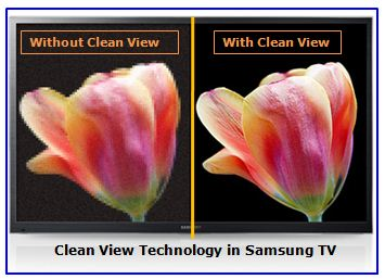 What is Clean View in Samsung F Series TV?