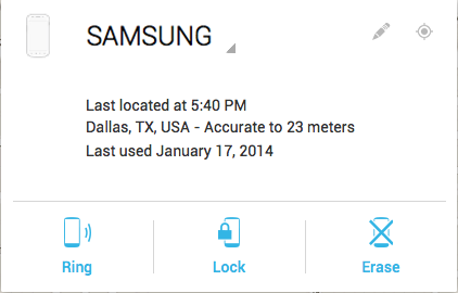 Android Device Manager prieiga