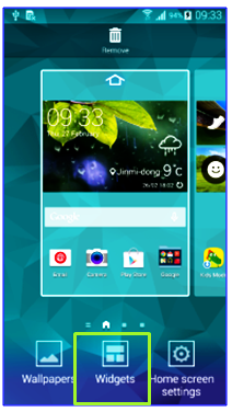 samsung galaxy s5 home widgets settings 1