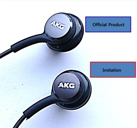 Diferenciación entre los auriculares autorizados de Samsung sintonizados por AKG frente a los no autorizados