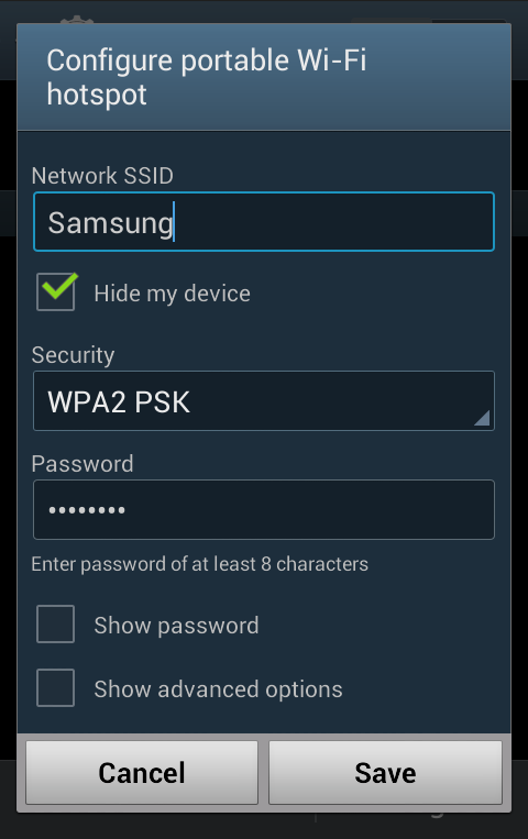 How do I set up Wi-Fi tethering on my Samsung Galaxy device?