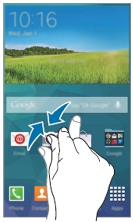 GS5 - Pinch Your Fingers Together on the Home Screen