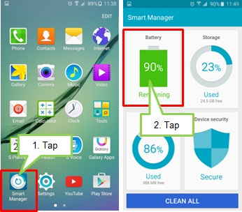 How to use the smart manager application
