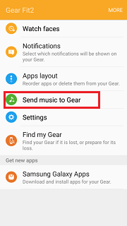 Send music to gear