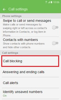 Call blocking