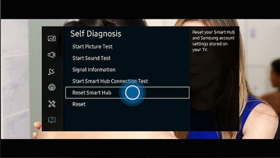 [TV SUHD KS Series] How can I reset The Smart Hub?