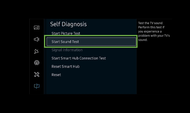 [K Series] How to do a sound test for Samsung TV?