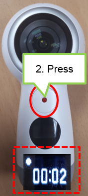 Press the OK key to record a video. While recording, the camera status light will flash red, and the recording time will be displayed on the camera status screen.