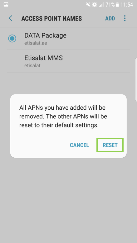 Smart Phone: How to setup the APN and how to reset it?