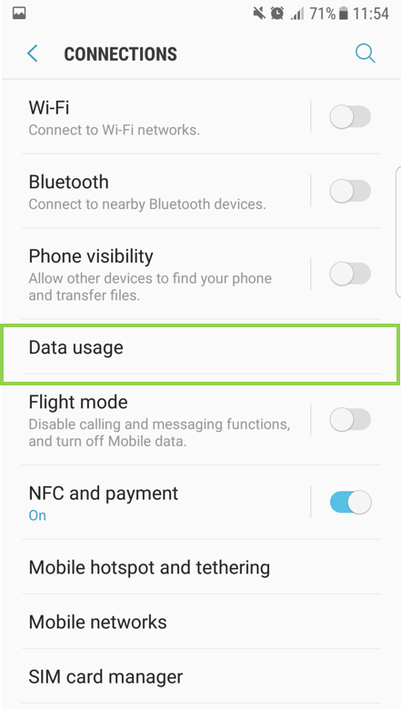 Smart Phone: How to setup the Network data (Mobile data)?