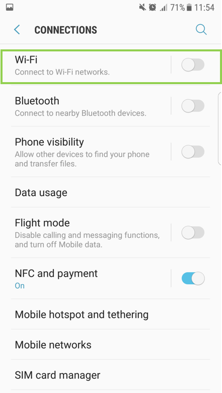 Smart Phone: How to setup the Wi-Fi?
