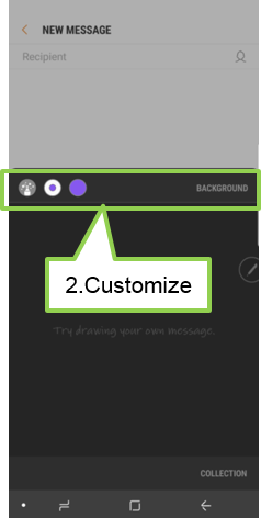 Customize pen settings and background image.