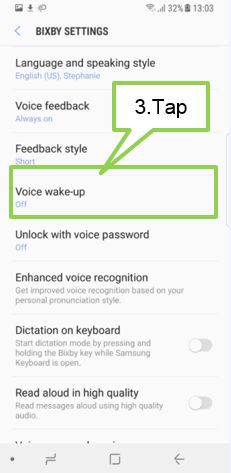 Galaxy Note8: How do I set voice wake-up for Bixby?