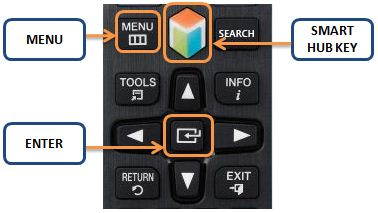 How to access the E-manual in Samsung Smart TV?