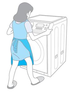 我的洗衣機放置不平穩。怎麼才能放平穩呢?