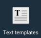 text templates