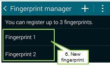 added fingerprint