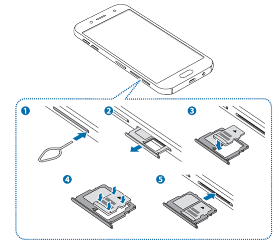 Galaxy J5/J7 2017: How Do I install the memory card in Galaxy J5/J7 2017?