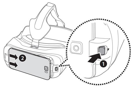 Nehmen Sie das Gerät anschliessend wieder aus der Gear VR