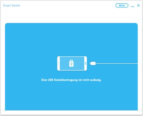 Erlauben Sie SmartSwitch nun den Zugriff auf die Gerätedaten