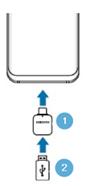 USB-Speicher oder externe Festplatte