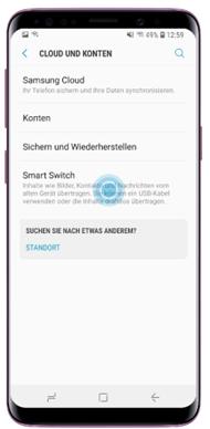 Tippen Sie auf «Smart Switch»
