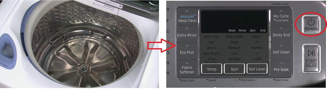 How do I run a Calibration mode on my washing machine?