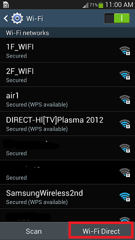 Tap Wi-Fi Direct
