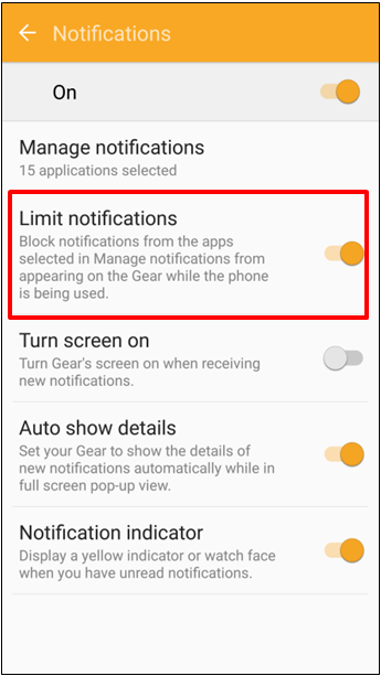 Bagaimana cara mengatur notifikasi pada Gear Fit2 (SM R360)?