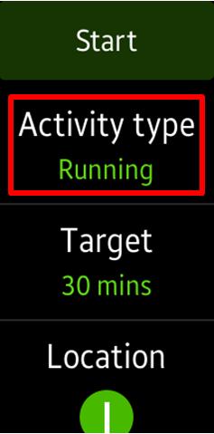activity type