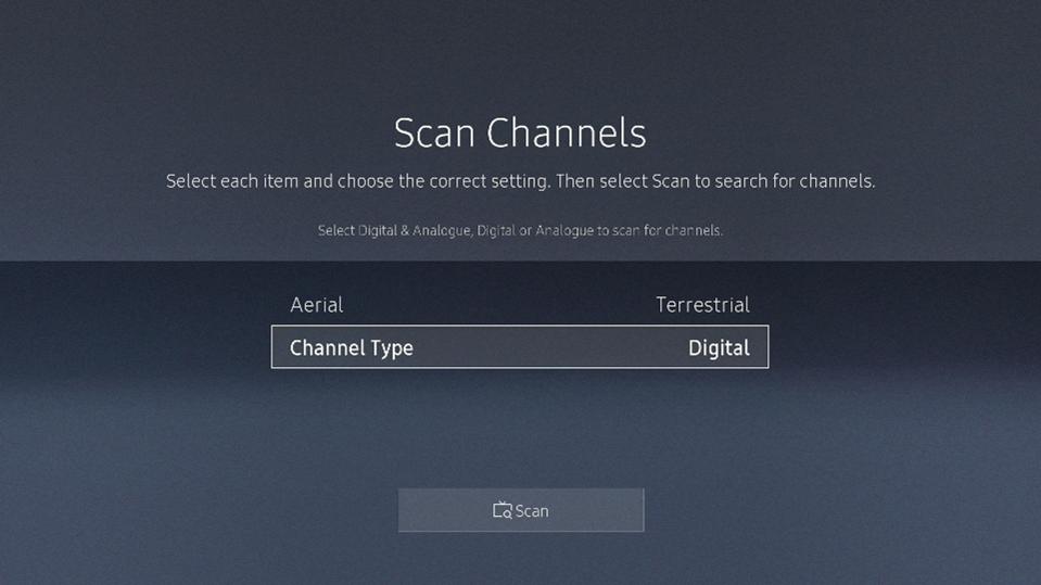 Scan channels - Digital