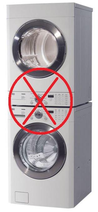Staking washing machine and dryer