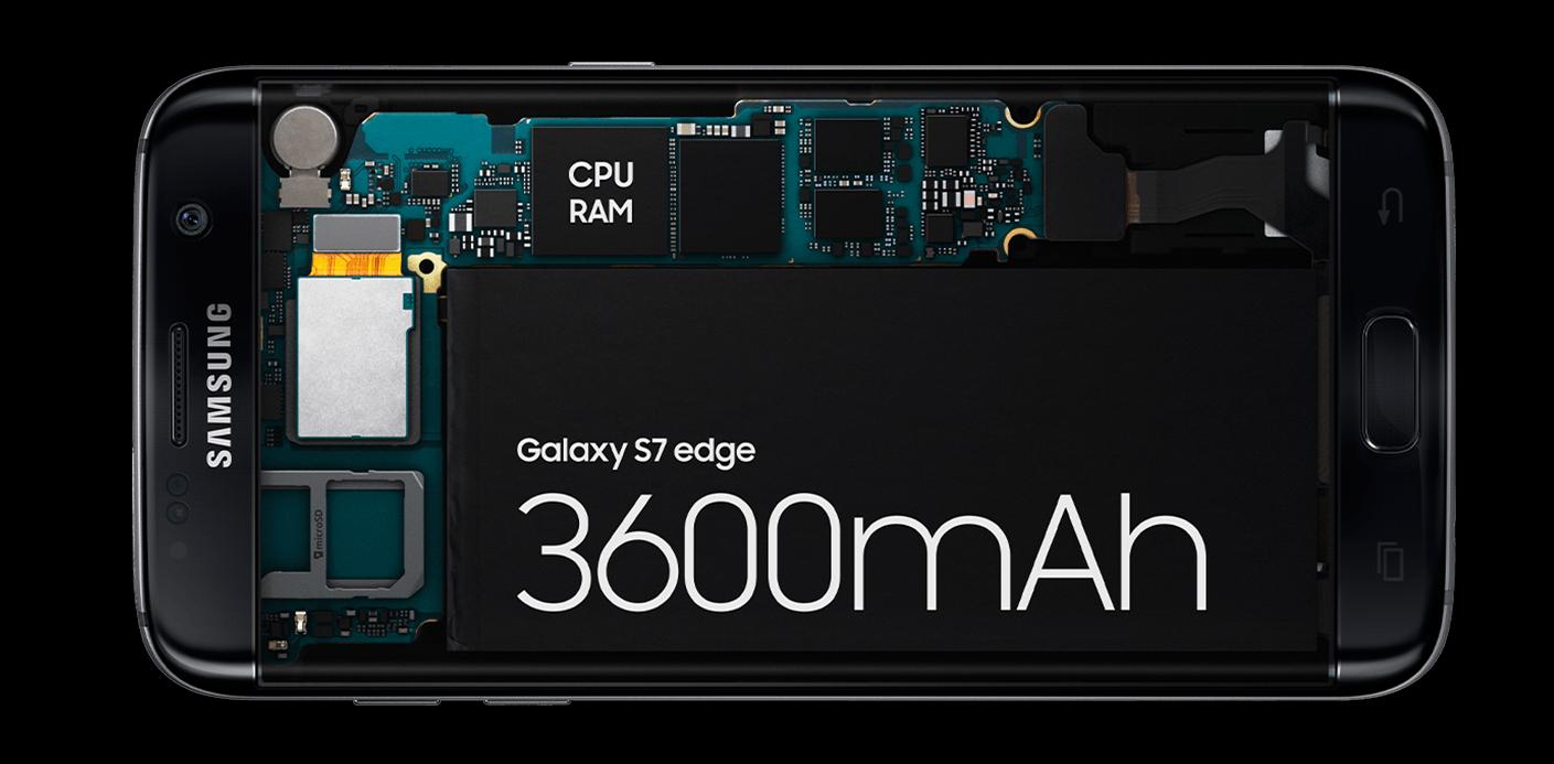 Galaxy S7 edge battery capacity