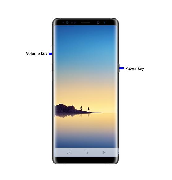 Bagaimana cara mengambil Screenshot pada Galaxy Note 8?
