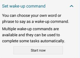 set wake-up command on lock screen