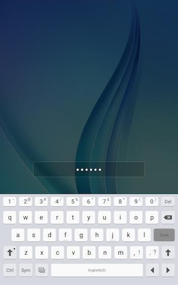 Password lock 9