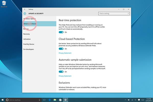 Windows Defender 4