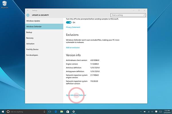 Windows Defender 6