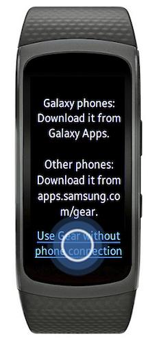 Bagaimana cara mengatur Gear Fit2 tanpa perangkat mobile (SM R360)?