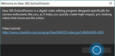 Gear 360 ActionDirector 8
